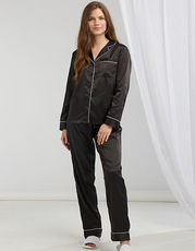 Ladies Satin Long Pyjamas