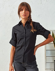Ladies` Roll-Sleeve´ Poplin-Bluse