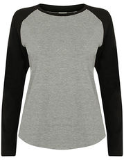 Women`s Long Sleeved Baseball T