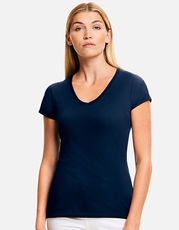 Ladies Iconic 150 V Neck T