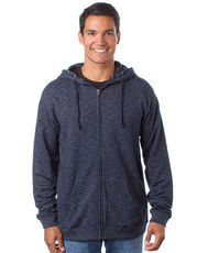 Men`s Midweight Baja Stripe French Terry Zip Hood