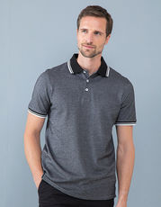 Mens 2-Tone Pique Tipped Polo Shirt