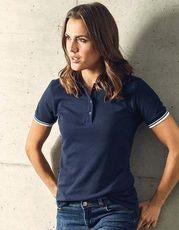 Women`s Polo Contrast Stripes