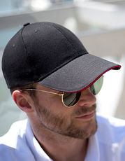 Memphis Brushed Cotton Low Profile Sandwich Peak Cap