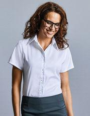 Ladies` Short Sleeve Tailored Ultimate Non-Iron Shirt