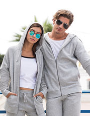 Unisex Slim Fit Zip-Through Hoody
