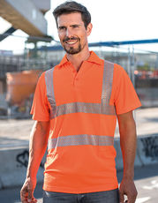 Hi-Viz Broken Reflective Polo Shirt EN ISO 20471