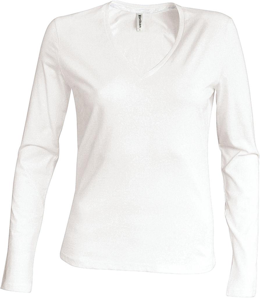 22c442e461edc8 Damen V-Neck T-Shirt langarm