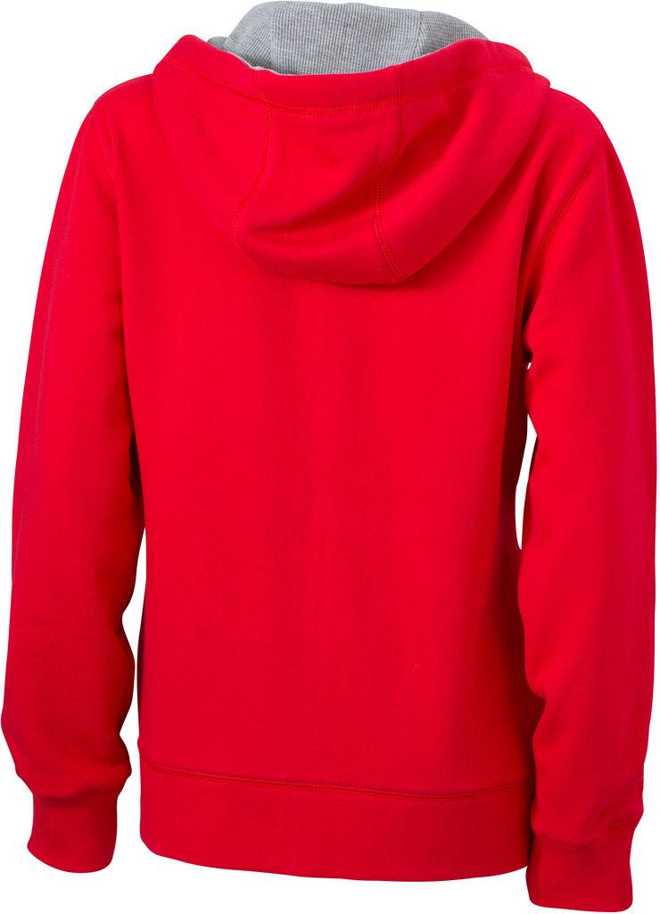 James /& Nicholson JN962 Damen Lifestyle Sweatshirt Jacke mit Kapuze