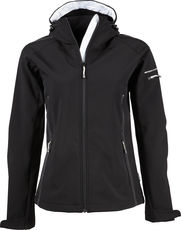 Damen Kapuzen Fashion 3-Lagen Softshell Jacke