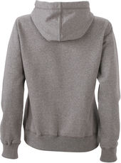 Damen Melange Kapuzen Sweater