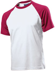 2-farbiges Raglan T-Shirt