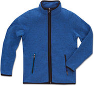 Kinder Strickfleece Jacke